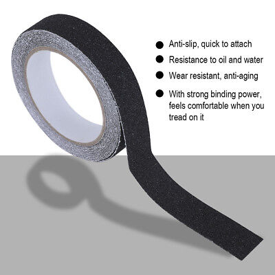 Anti Slip Non Skid Tape Sticky High Grip Floor Safety Black Backed Adhesive