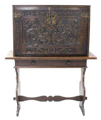 Spanish Baroque Revival vargueno or chest on stand, 19th C., probably... Lot 150