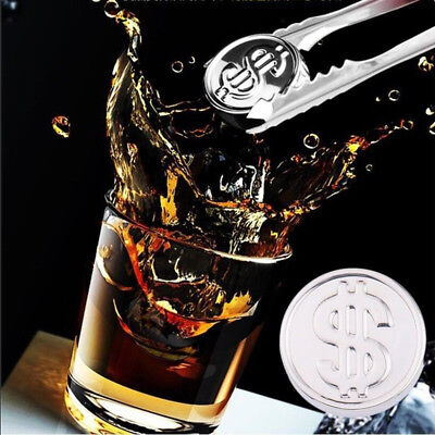 Ice Cubes Whisky Beer Cooler Chilling Stone Stainless Steel Wine Drinks Cooling