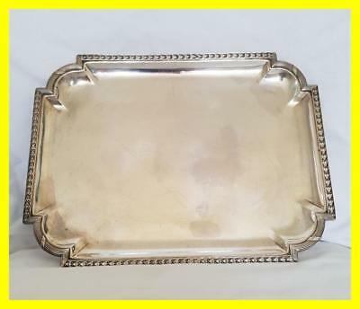 French C.1900 First Standard 950 Grade Heavy Silver Drinks Tray,460 Grams