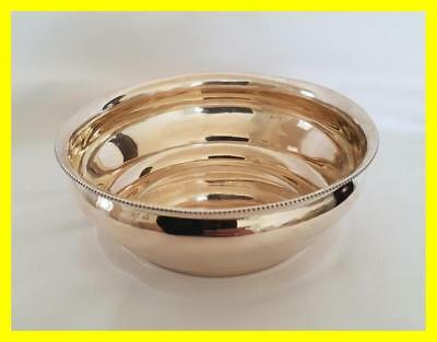 German Large Silver Bowl, 800 Grade Fully Hallmarked Crescent Crown,103 Grams