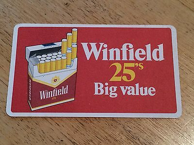 1 x WINFIELD 25's DRINK/BAR COASTER VINTAGE RETRO CIGARETTE ADVERTISING MAN CAVE