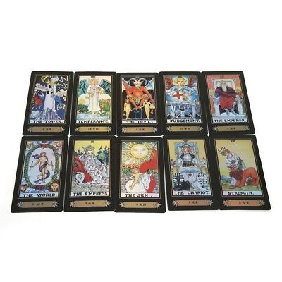 Tarot Card Deck Vintage 78 Cards Rider Waite Future Telling Game Colorful Box