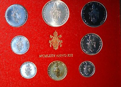 Vatican City, 1975 (8 Coin) Mint Set, Reserve,                             mab18