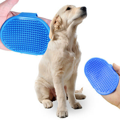 Pet Dog Cat Bath Brush Comb Rubber Glove Hair Fur Grooming Massaging Mit