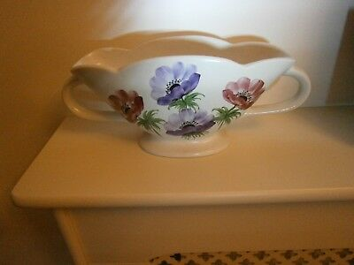 """1950's Retro  VINTAGE """"RADFORD VASE""""  Decorated all over with Anenomes"""