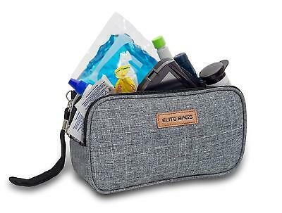 Elite Cool Bag / Cooler Pouch for Insulin & Diabetic Kit Organiser Grey