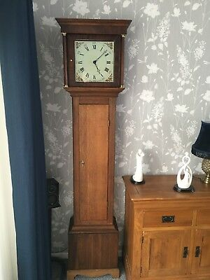 Antique Grandfather Clock - J Wood of Grantham circa 1790