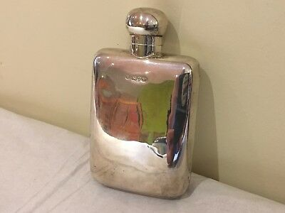 English Sterling Silver Antique Hip Flask
