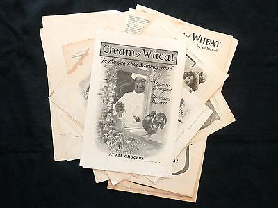 Lot of 12 CREAM OF WHEAT Advertisements 1904 TO 1913 Great for Framing MUST SEE