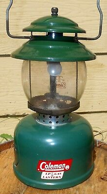 Vintage c.1960 Coleman Camp Lantern Model 5120 EXCELLENT LP Mantle Gas Lamp