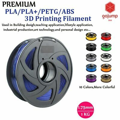 3D Printer Printing Filament 1.75mm PLA Roll Spool Flexible 1KG Hot Colour AU