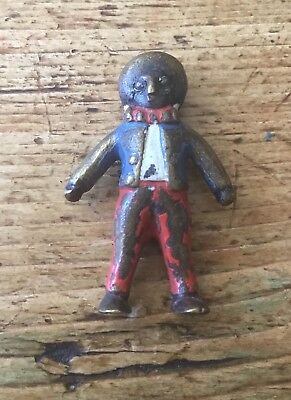 """Vintage Cold Painted Bronze Black Americana Character Figure Approx 1"""" Tall"""