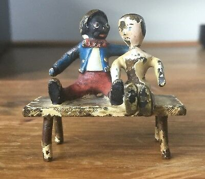 Old Cold Painted Bronze Black Americana Florence Upton Character & Doll Figure