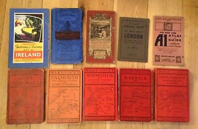 10 Vintage Early 20th Century Maps Guide Books Wardlocks Bartholomews Johnstons