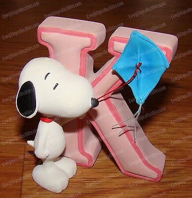 Peanuts Alphabet, Letter K (by Westland Giftware, 8581) Snoopy Flying KITE