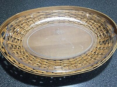 Longaberger Swoop tray basket and protector