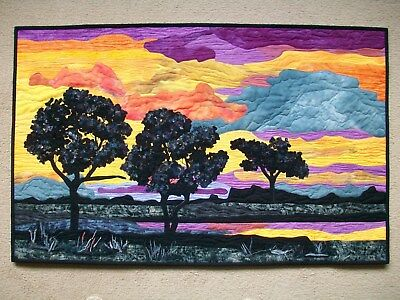 Textile Wall Art Entitled August Enening