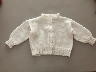 Vintage Infant White Button Down Sweater