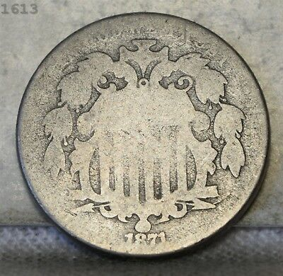 1871 Shield Nickel *Free S/H After 1st Item*