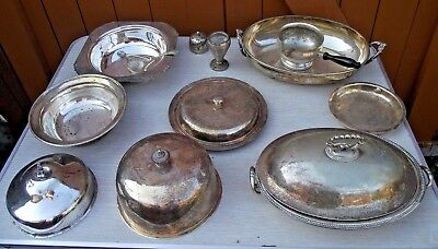 Silver Plated Ware Food Warmers Serving Tureens Dishes Goldsmiths Walker & Hall