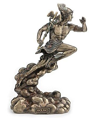 Hermes - Greek God of Travel, Luck and Commerce Statue Sculpture Figurine