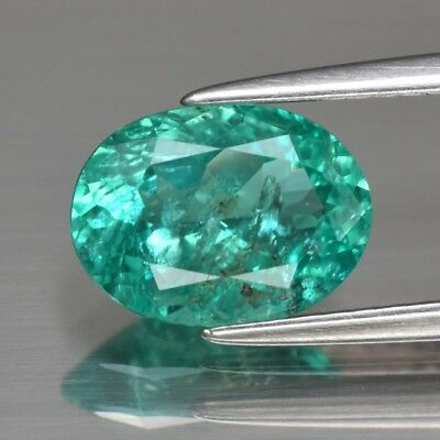 1.75ct 9.3x7mm Oval Natural Unheated Paraiba-Color Neon Green Apatite
