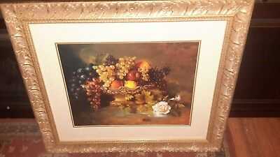 "Homco home interior picture "" "" ""Great condition "" "" ""  Fruit  Big Picture"