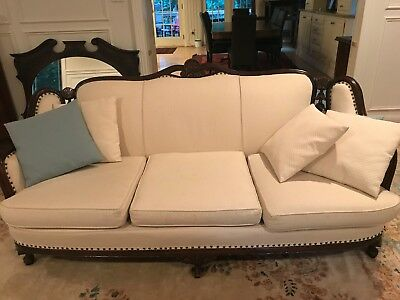 Cream antique couch for a formal living room in great condition