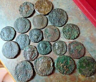 LOT OF 19  ANCIENT ROMAN COINS Dupondi Ae As Sestertius from the NETHERLANDS