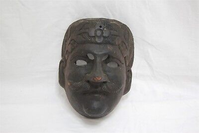 Antique Hand Carved 19th Century Solid Wood Guatemalan Folk Dance Mask