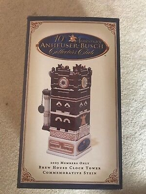 Anheuser-Busch Members Only Stein 2005 Brew House Clock Tower CB33