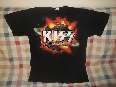 KISS GREATEST SHOW ON EARTH CONCERT TOUR T-Shirt Fits M/L