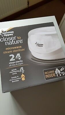 Tommee Tippee Closer to Nature baby bottle microwave steam steriliser BNWT