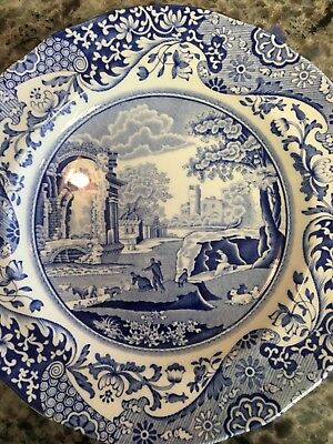 "Spode Blue Italian 7 1/2"" Salad Plate Made in England"