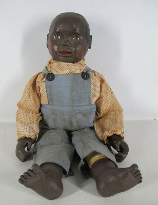 Vintage Maynard Arnett Inspired Black Americana Folk Art Carved LE Doll #2 yqz