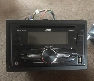 JVC KW-R520 Double Din CD AUX In MP3 USB Android Car Stereo Radio Player