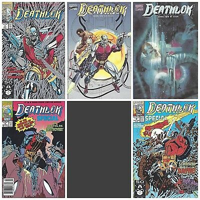 DEATHLOK  Lot of 5 comics ~ Nice Condition ~ NM New (1990) Marvel