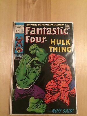 Fantastic Four 112 Hulk Vs Thing Marvel Comics