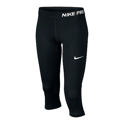 Nike Pro Cool  3/4 Girls Training Tights Black 819608 010