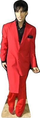 """PRINCE in RED- 63""""Tall Life Size CARDBOARD CUTOUT Standee"""