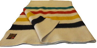 Eatons 1920's Trapper Point Hudson Bay Style Felted Wool 4 point Blanket