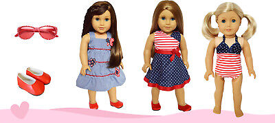 Patriotic 18 Inch Doll Clothes Value Pack for American Girl Dolls