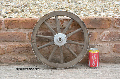 Vintage old wooden cart wagon wheel  / 35.5 cm - FREE DELIVERY