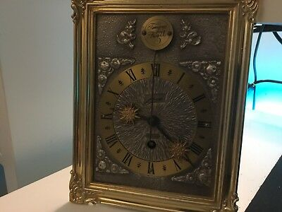 Vintage Antique Tempus Fugit 8 Day Wall Mounted Framed Clock Analogue