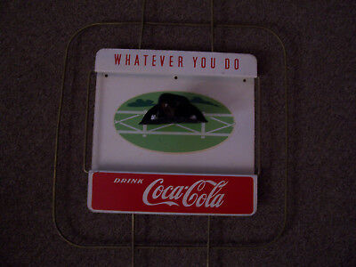 """Awesome Heavy Gauged Metal 1960's???  """"coca-Cola, Whatever You Do""""  Cowboy Sign"""