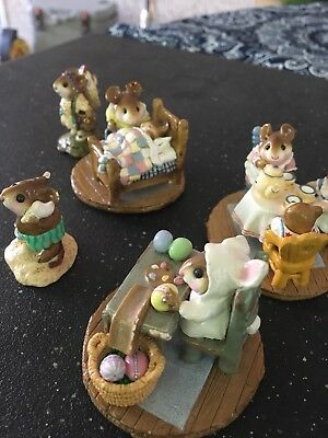 Lot of Wee Forest Folk (5) Figurines