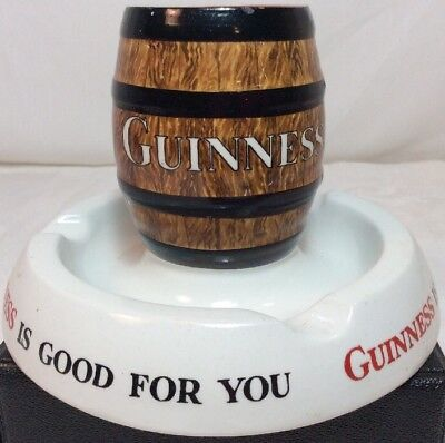 Vintage Advertising Minton Guinness Is Good For You Match Holder Ashtray