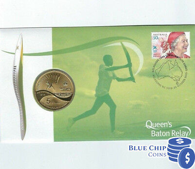 Queens Baton Relay $5 Coin Melbourne 2006 Commonwealth Games ex PNC