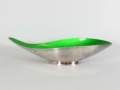 Reed & Barton Green Enamled Silverplate Dish / Bowl #65